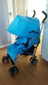 Zeta Vroom Stroller with padded liner and footmuff