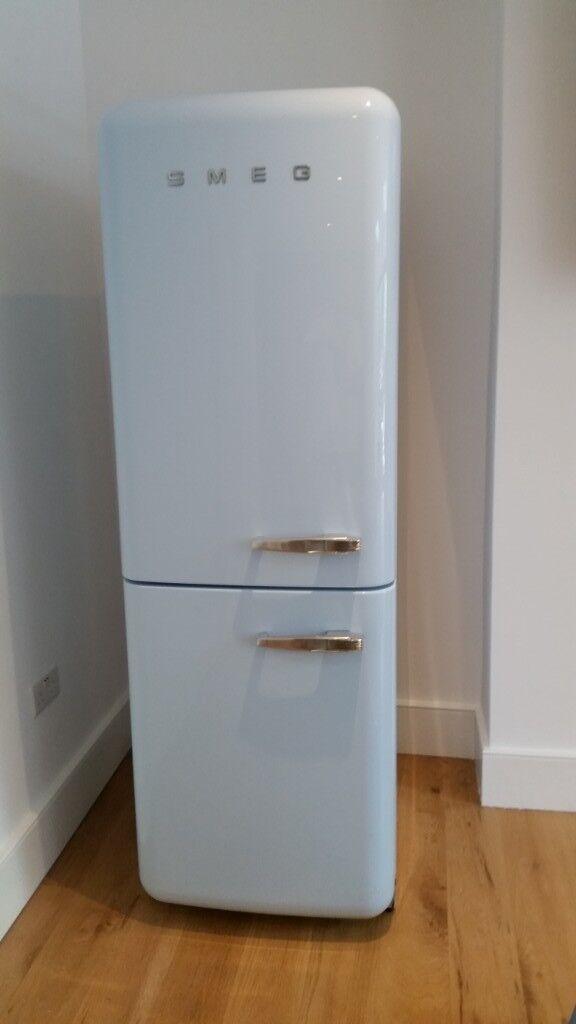 Smeg Fridge Freezer Pastel Blue With Free Matching Dishwasher