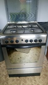 Stainless steel indesit cooker oven hob