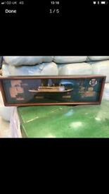 Titanic collectible mounted display