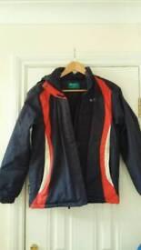Boys used mountain warehouse jacket with fleece inner!! Age 12-13
