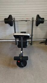Maxi Muscle Weights Bench with leg press