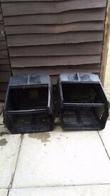 2 lawnmower grass boxes Mountfield