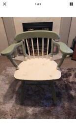 Captains Chair vintage distressed chalk paint
