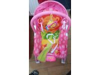 Baby bouncer in pink excellent condition.