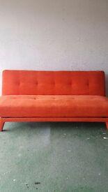 Gorgeous Made dot Com Saffron Orange Yoko Sofa Bed