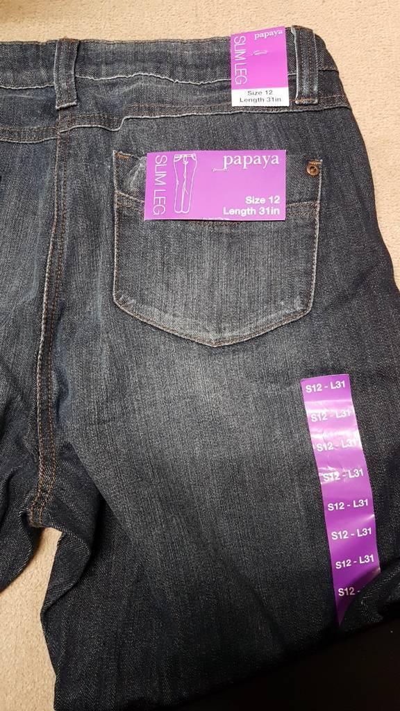 Brand new with tag ladies papaya jeans slimleg size12