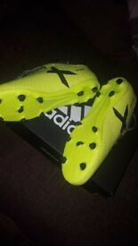 Brand new Adidas football boots cost £50 only selling as lost reciept will accept £30