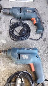 Black&decker electric drills in good working condition