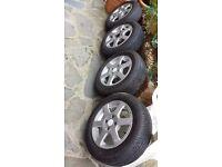 Proton Honda Kia Mini MG Rover Mitsubishi Daihatsu alloy wheels + 4 brand new tyres