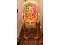 Chicco Child's high chair, very high quality, easy to clean, a very parent/child friendly design.
