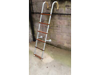 Boat Boarding Ladder - Aluminium Hook-on type with Wooden Rungs