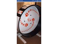 Maclaw exercise wheel for cats. 18 mths old. Hardly used. Half retail price! Buyer collects.