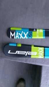 Elan Max 150 downhill skis and Dalbello ski boots