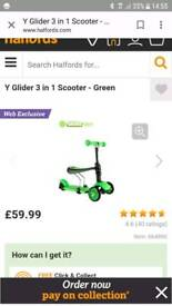 y glider 3 in 1 scooter