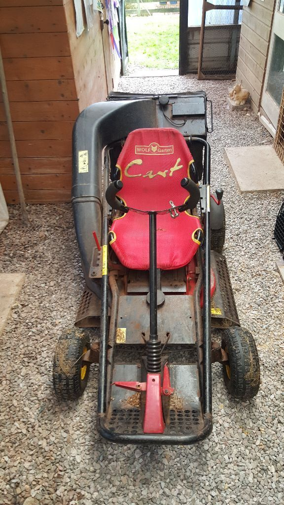 lawn mower wolf garten cart in paignton devon gumtree. Black Bedroom Furniture Sets. Home Design Ideas