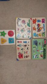Wooden jigsaws-shapes, animals