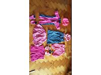 summer and swim bundle of girl clothes. including sun auit and anti slip swim shoes.next flip flops
