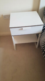 2 IKEA TRYSIL bedside tables