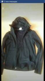 Nike air max mens small / teenager jacket with pockets & hood (which can be hidden in zip at neck)