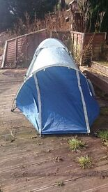 Pro Action 2 Person Tent - Blue - Great for Festivals