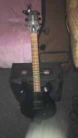 Paul Reed Smith SE and Fender champion 30w Amp