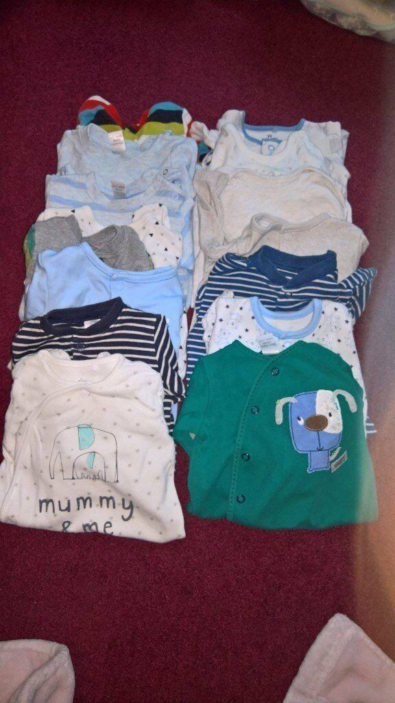 newborn to 1 month baby growes clothes for boy cute outfits