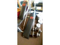 Weights over 100 kg with 2 benches