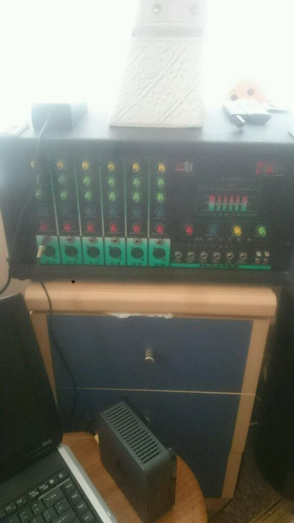 POWER AMP & MIXER WITH SPEAKERS