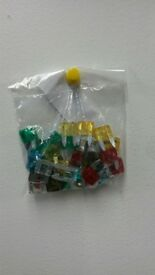 Auto mini blade fuses. Pack of 35 mixed fuses. 5, 7.5, 10, 15, 20, 25 and 30 amp