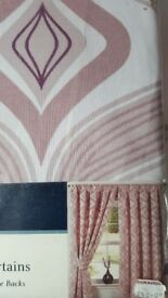 Fully Lined Tape Top Curtains Width 45 inches 114 cm ,Height 54 inches 137 cm