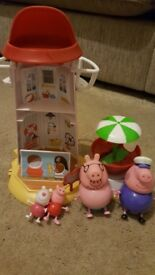 Peppa Pig Bundle - books, tops and Beach Lighthouse with figures