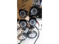 4 CAMERA FULL CCTV SYSTEM + MONITOR