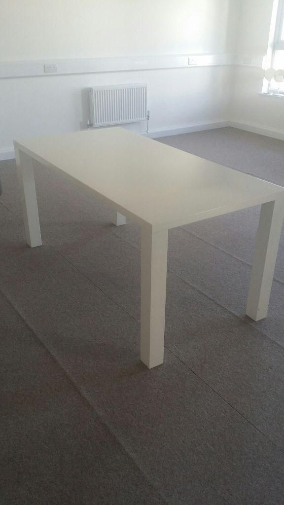 Modern white gloss rectangular dining table 160 cm x 80cm  : 86 from www.gumtree.com size 576 x 1024 jpeg 48kB