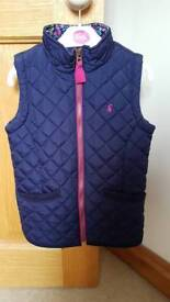 Girls Joules Gilet Jacket Age 7