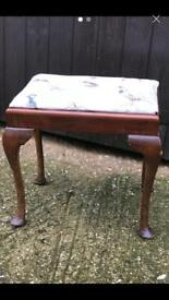 Vintage wooden dressing table stool