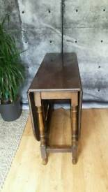 Antique folding oak table
