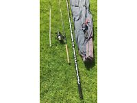Fishing pole , rod , reel and rod rest