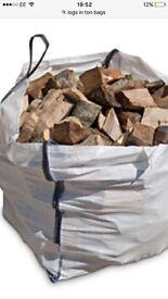 Fully seasoned logs hardwood , fire wood