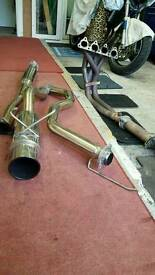 Full exhaust system honda civic ej/ek