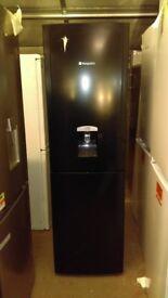 HOTPOINT black fridge freezer new ex display