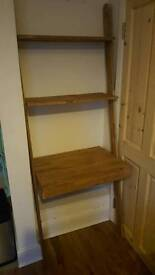 Futon Oak lean to desk with drawer RRP £229