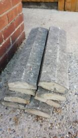 8X used concrete capping stones free for collection