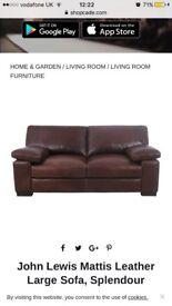 XL Leather Sofa (chestnut)