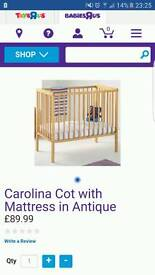 Cot and mattress new in box