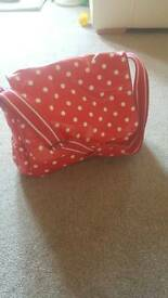 Cath kidston red changing bag