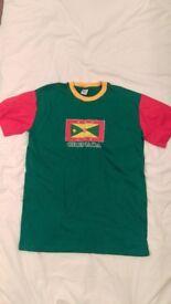 Granada Tee T-shirt Crew Neck Short Sleeve XL Green Red Yellow 100% Cotton BNWOT