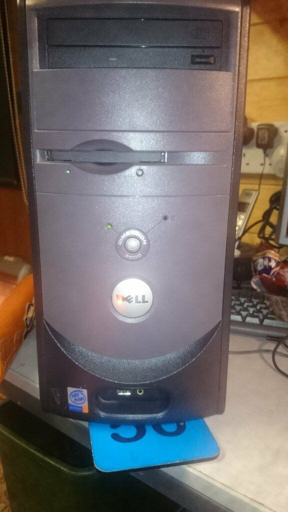Dell Dimension 3000 Pc Tower System Windows 7 Home Premium