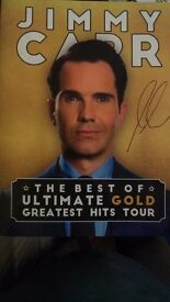 ***Jimmy Carr Signed Programme, Ticket and Large Double Sided Poster***