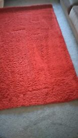 Ikea Red Rug 6ft 5 x 4ft 4